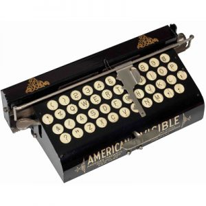 Photograph of the American Visible 1 typewriter.