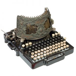 Photograph of the Bar-Lock 4 typewriter.