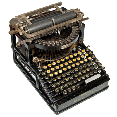 Photograph of the Duplex 2 typewriter.