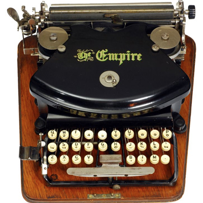 Photograph of the Empire 1 typewriter.