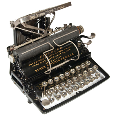 Photograph of the Fitch 1 typewriter.