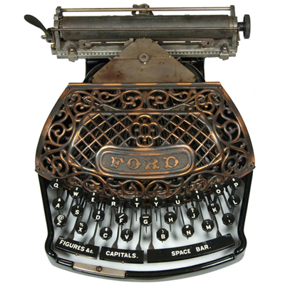 Photograph of the Ford typewriter.