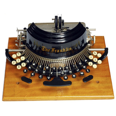 Photograph of the Franklin 2 typewriter.