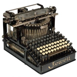 Photograph of the Jewett 1 typewrite.