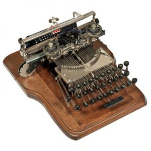 Photograph of the Keystone 1 typewriter.