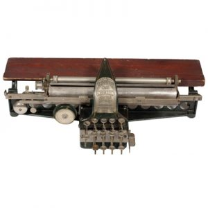 Photograph of the Kleidograph typewriter.