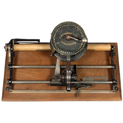 Photograph of the McLoughlin Bros typewriter.