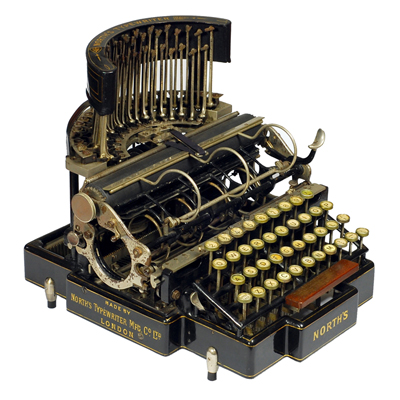 Photograph of the Norths typewriter.