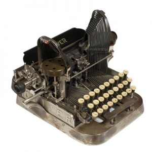 Photograph of the Oliver 2 typewriter.