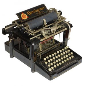 Photograph of the Remington 2 typewriter.