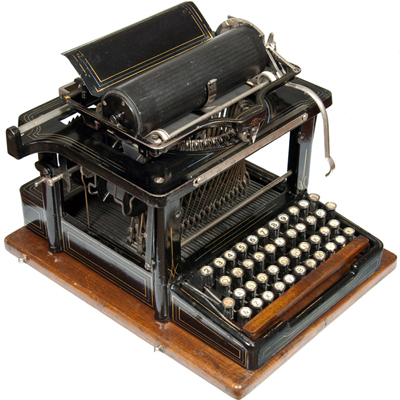 Photograph of the Remington Perfected 4 typewriter.