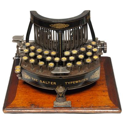 Photograph of the Salter 5 typewriter.