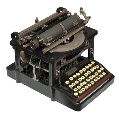 Photograph of the Shimer typewriter.