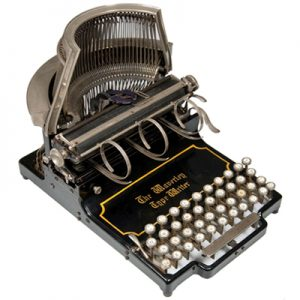 Photograph of the Waverley typewriter.