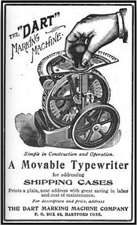 Dart 1 typewriter period advertisement.
