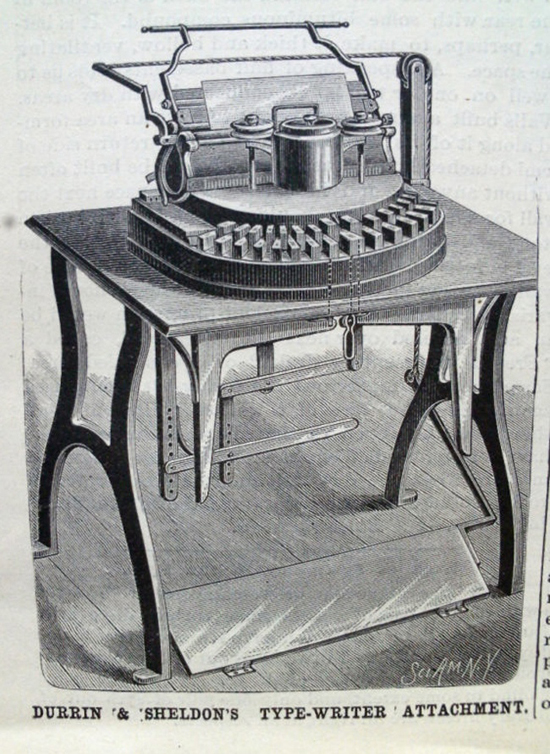 Hammond 1 typewriter period advertisement.