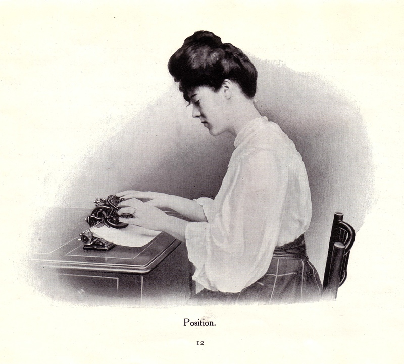 Lambert 1 typewriter period advertisement.
