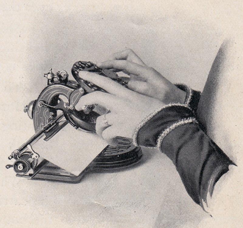 Lambert 1 typewriter period advertisement.