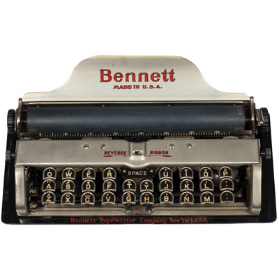 Photograph of the Bennett typewriter.