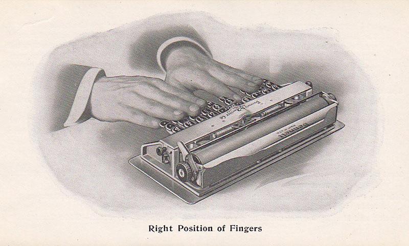 Bennett typewriter period advertisement.