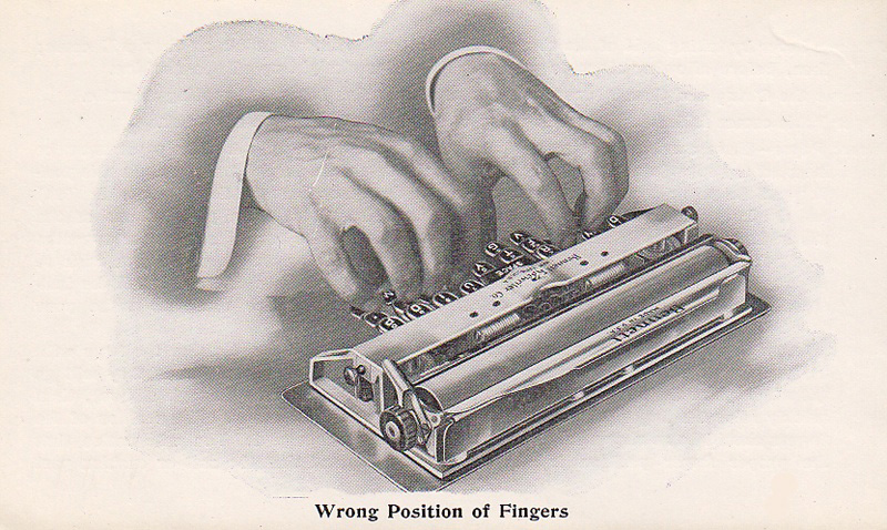 Bennett typewriter period advertisement.