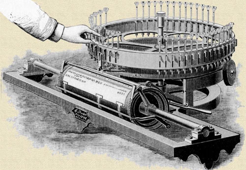 Charles Thurber's typewriter from 1843