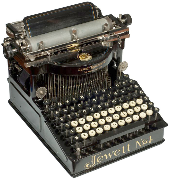 Jewett 4 typewriter