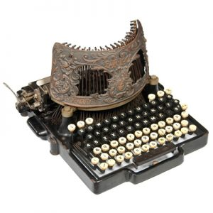 Photograph of the Bar-Lock 6 typewriter.