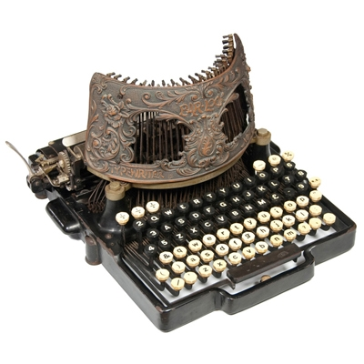 Photograph of the Bar-Lock 6 typewriter.