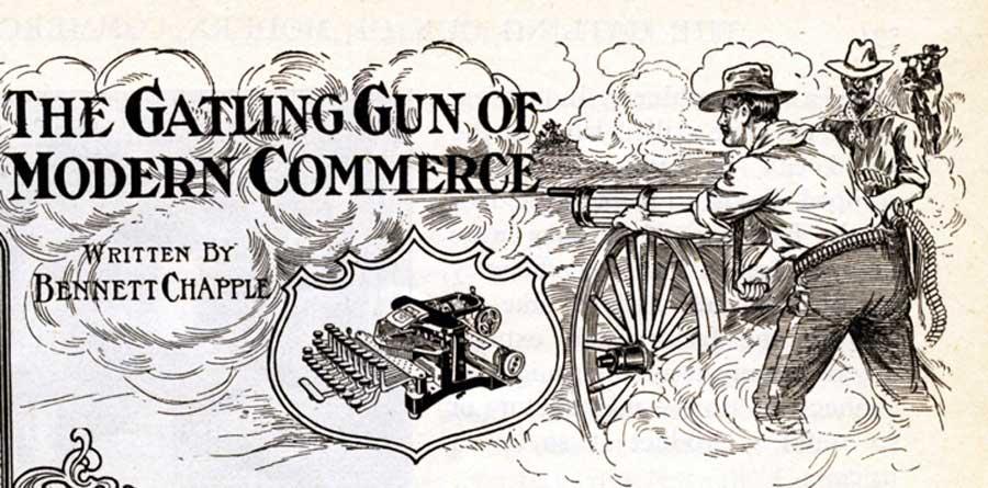 Postal 3 typewriter period advertisement