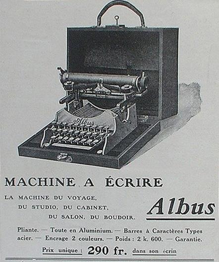Standard Folding 1 typewriter period advertisement