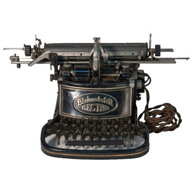 Photograph of the Blickensderfer Electric Typewriter.