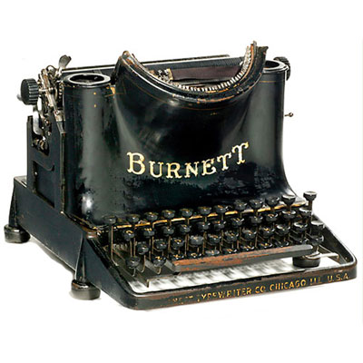 Photograph of the Burnett typewriter.