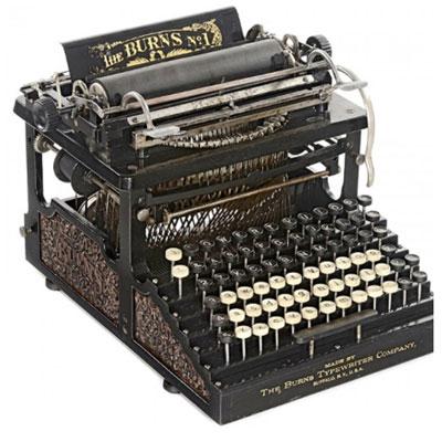 Photograph of the Burns Typewriter.