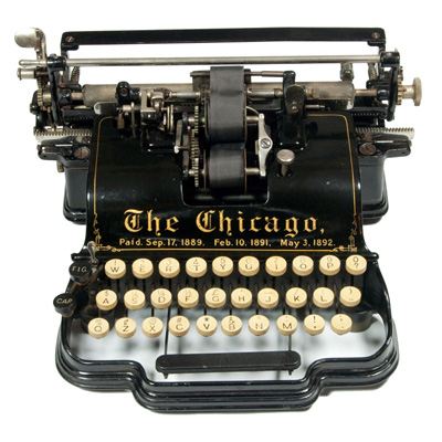 Photograph of the Chicago 1 typewriter.