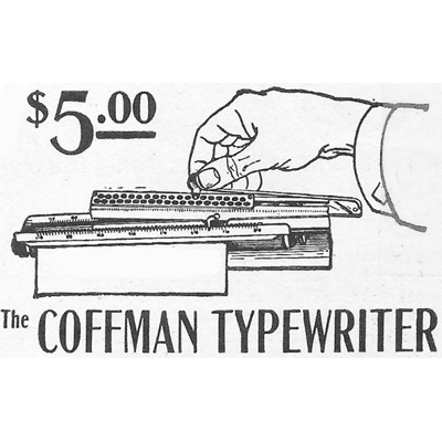 Period illustration of the Coffman Typewriter.