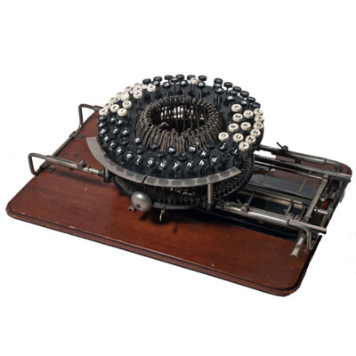Photograph of the Crary typewriter.
