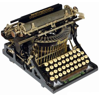 Photograph of the Densmore 1 typewriter.