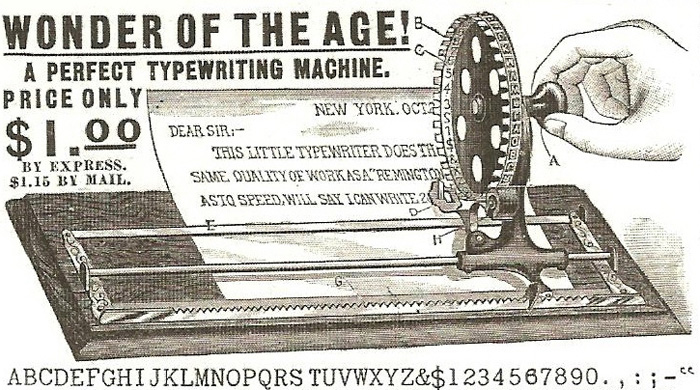 Dollar typewriter