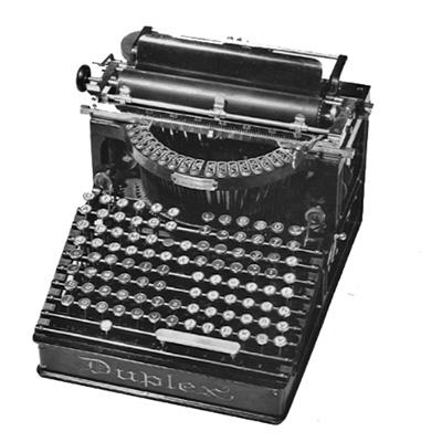 Photograph of the Duplex typewriter.