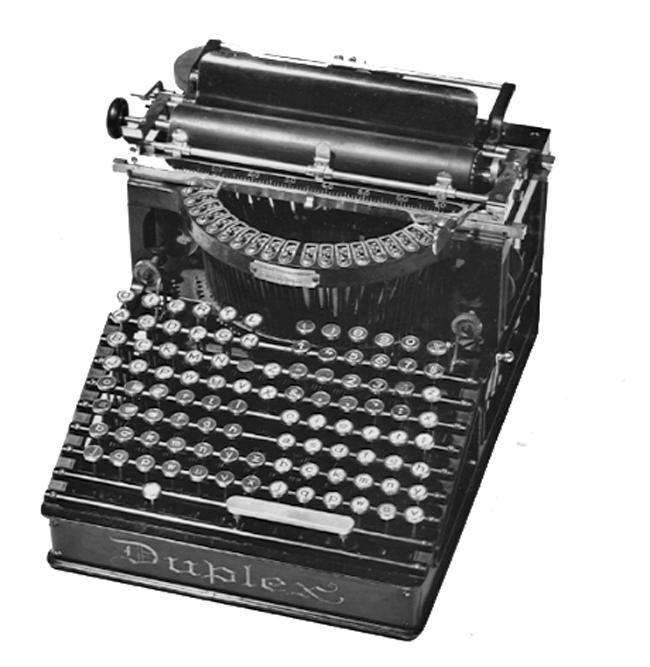 Duplex typewriter