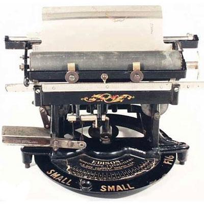 Photograph of the Edison typewriter.
