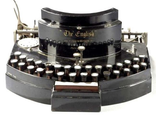 English typewriter