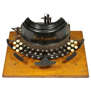 Photograph of the Franklin 1 typewriter.
