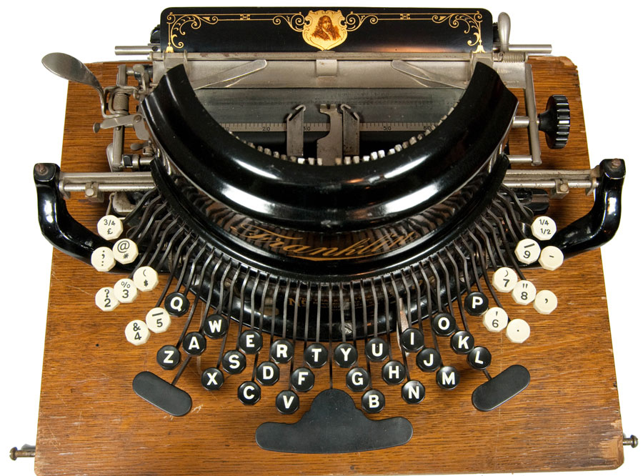 Photograph of the Franklin 10 typewriter form above.