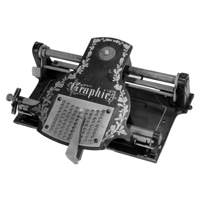 Photograph of the Graphic typewriter.
