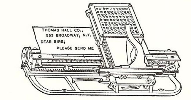 Hall Century typewriter