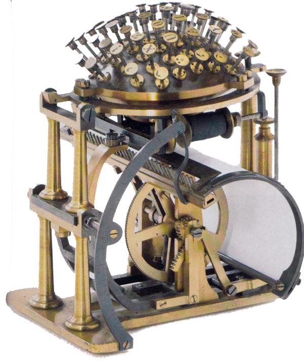 Hansen Writing Ball Typewriter
