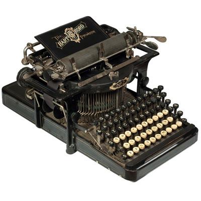 Photograph of the Hartford 2 typewriter.