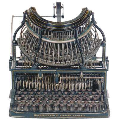 Photograph of the Horton Typewriter.